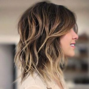 bob layer beachy waves shoulder shags